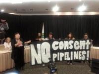 Indigenous women Shut Down Energy East Pipeline consultation hearing